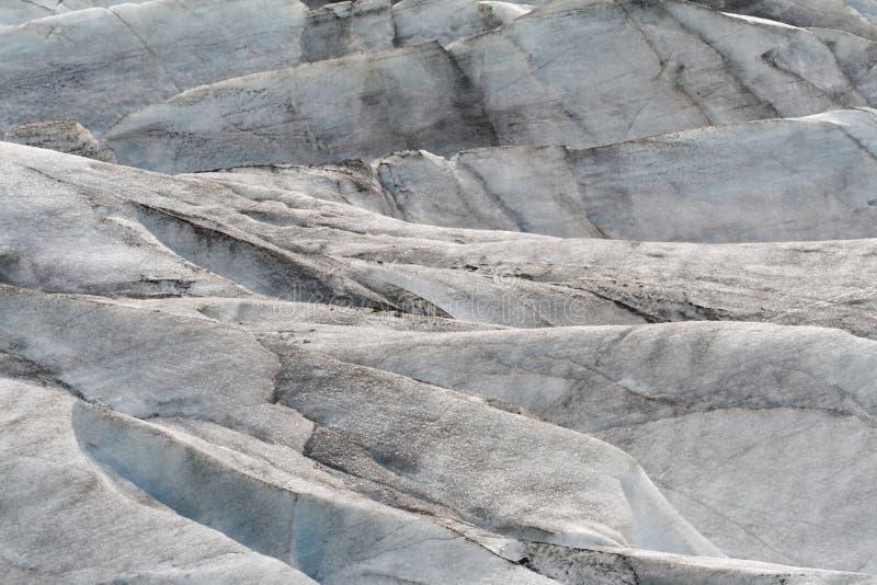 Glacier. Hilly contours of a Glacier, J�kuls�rl�n, Iceland stock image