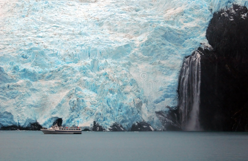 Glacier in Alaska royalty free stock images