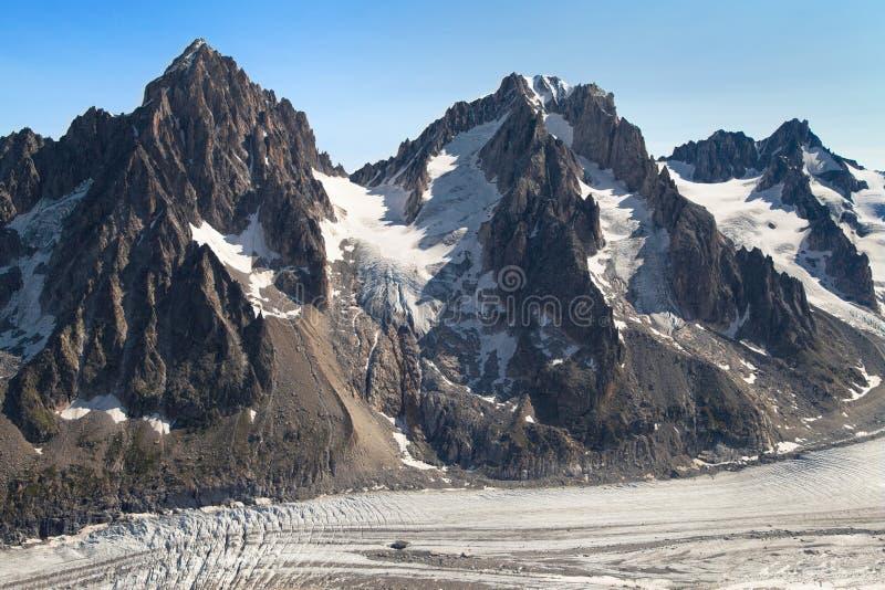 Glacier Argentiere image stock