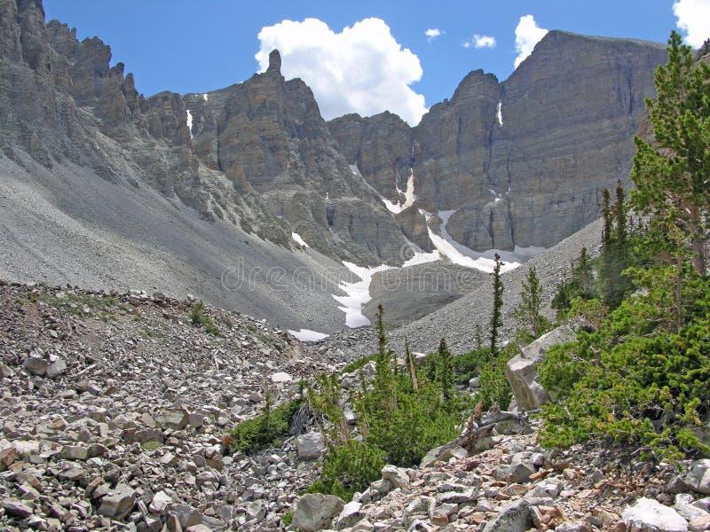 Glacier au-dessous de Wheeler Peak en stationnement national de bassin grand, Nevada. photo stock