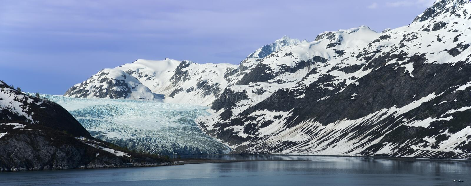 Glacier Bay National Park Panorama Alaska royalty free stock image