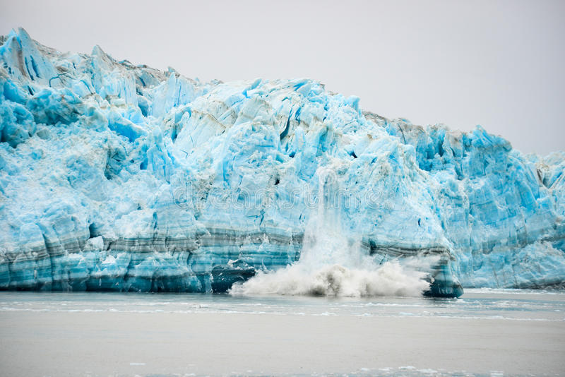 Glacier Calving - Natural Phenomenon royalty free stock image
