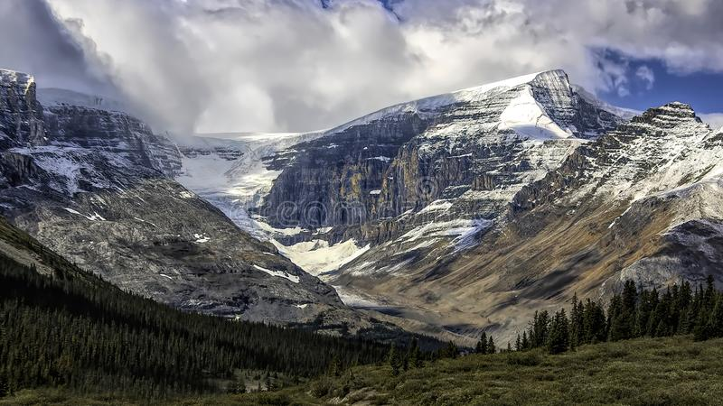 A Glacier in the Canadian Wilderness royalty free stock photos