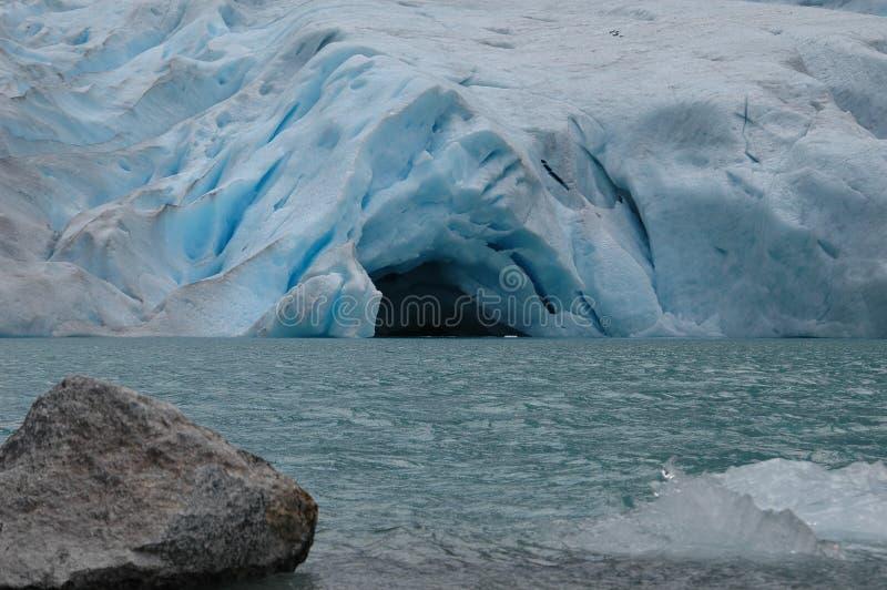 Glacier cave stock photography