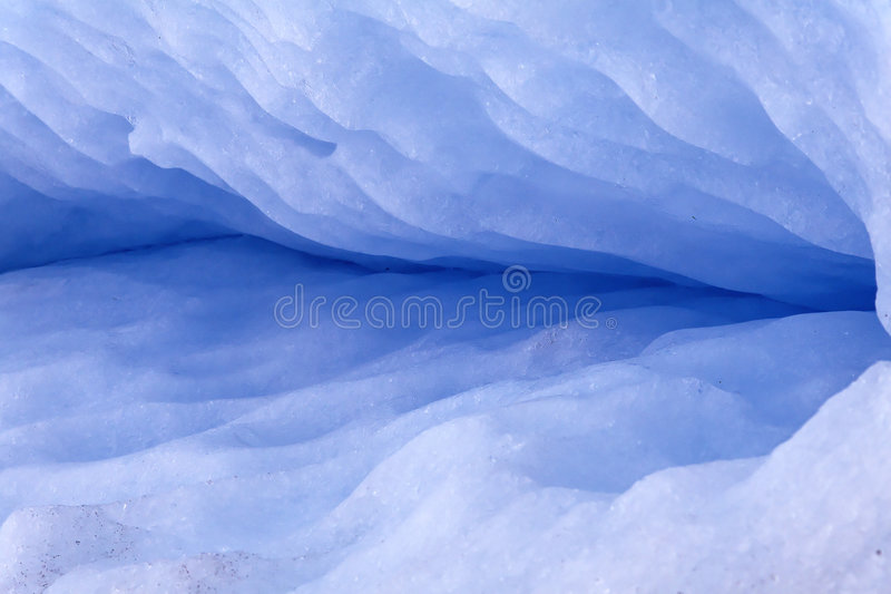 Glacier crack royalty free stock image