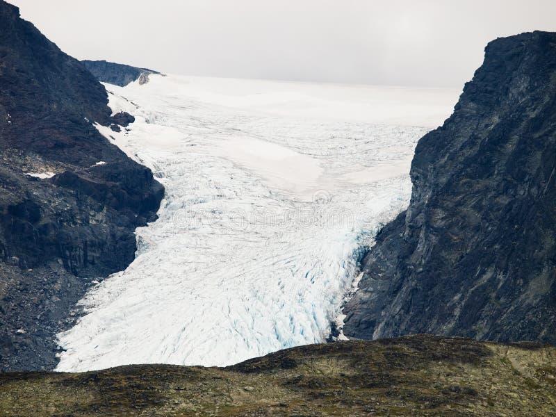 Glacier with crevasses royalty free stock photos