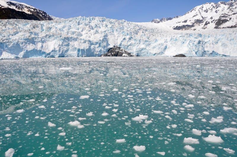 Glacier d'Aialik, fjords NP de Kenai image stock