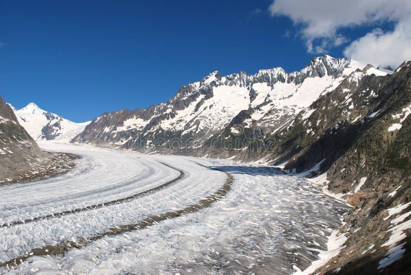 Glacier d'Aletsch image stock
