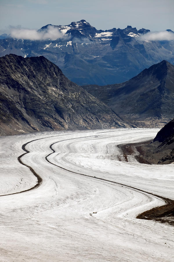 Glacier d'Aletsch images libres de droits