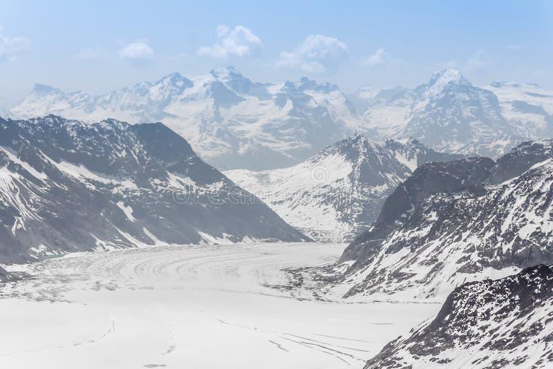 Glacier d'Aletsch dans le Jungfraujoch, Alpes, Suisse image libre de droits
