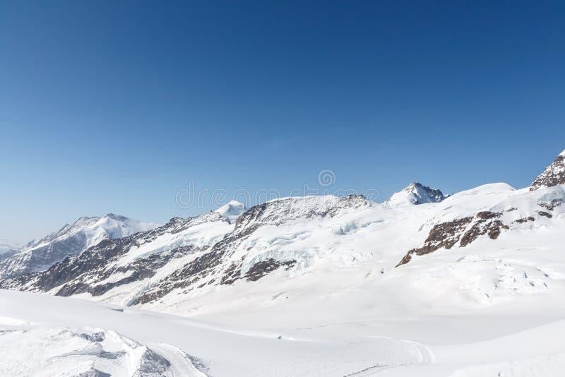 Glacier d'Aletsch dans le Jungfraujoch, Alpes, Suisse photo libre de droits
