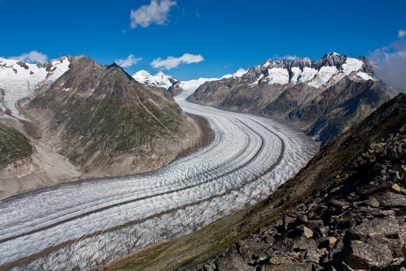 Glacier d'Aletsch dans les Alpes, Suisse photo libre de droits