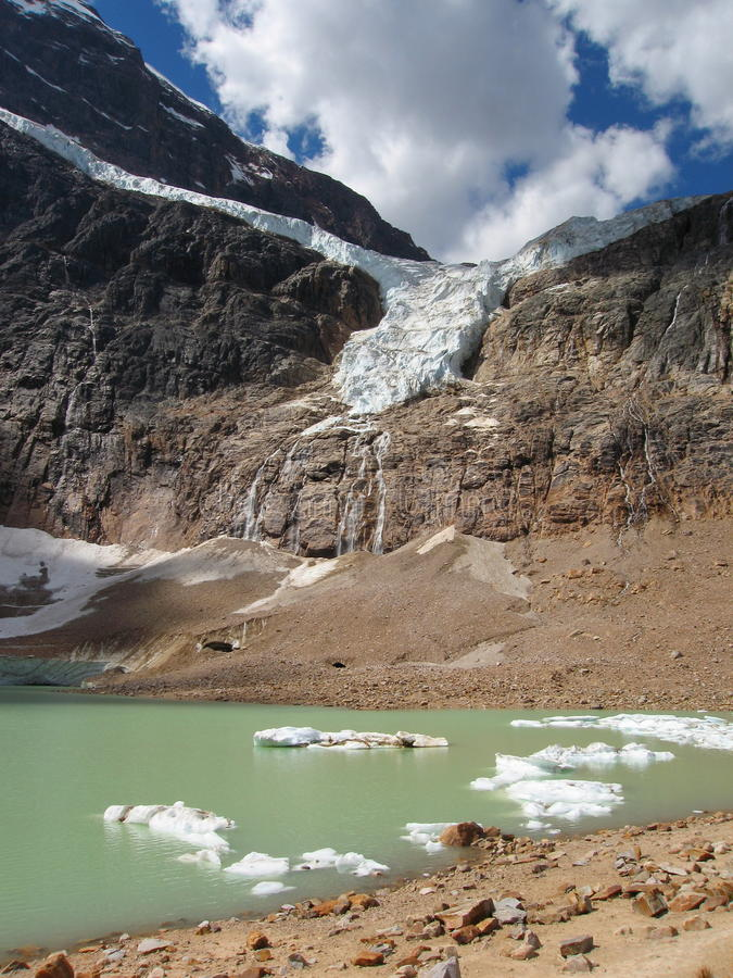 Glacier d'ange en Jasper National Park, Alberta photo libre de droits