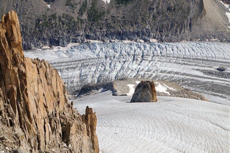 Glacier d'Argentiere images stock