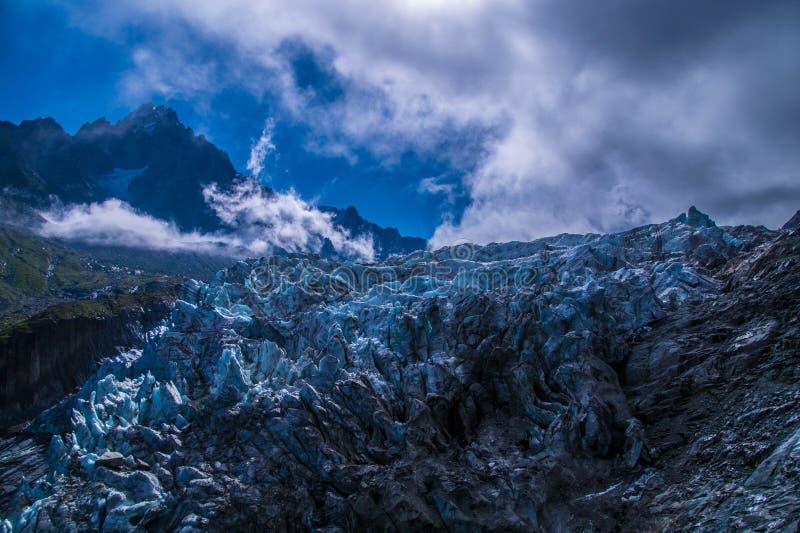 Glacier d'argentiere, Chamonix, la Savoie haute, France image libre de droits