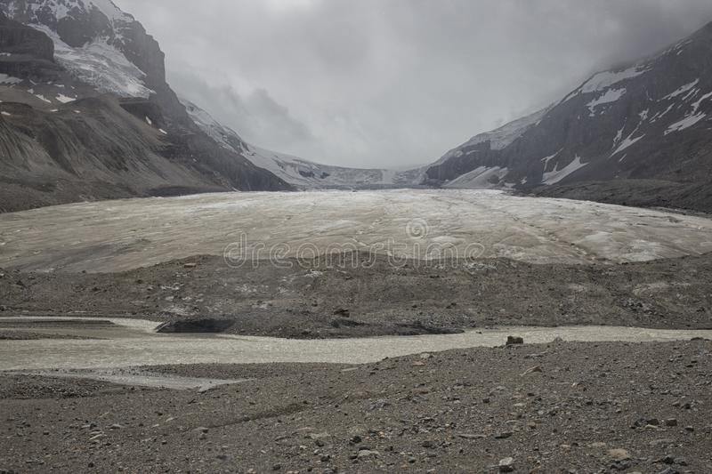 Glacier d'Athabasca photo stock