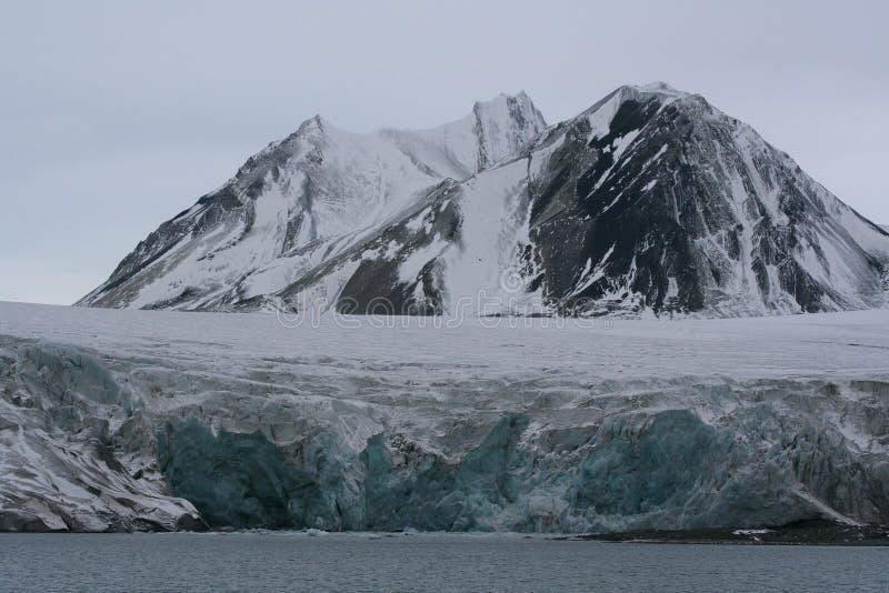 Glacier d'Esmark, Spitzbergen image stock