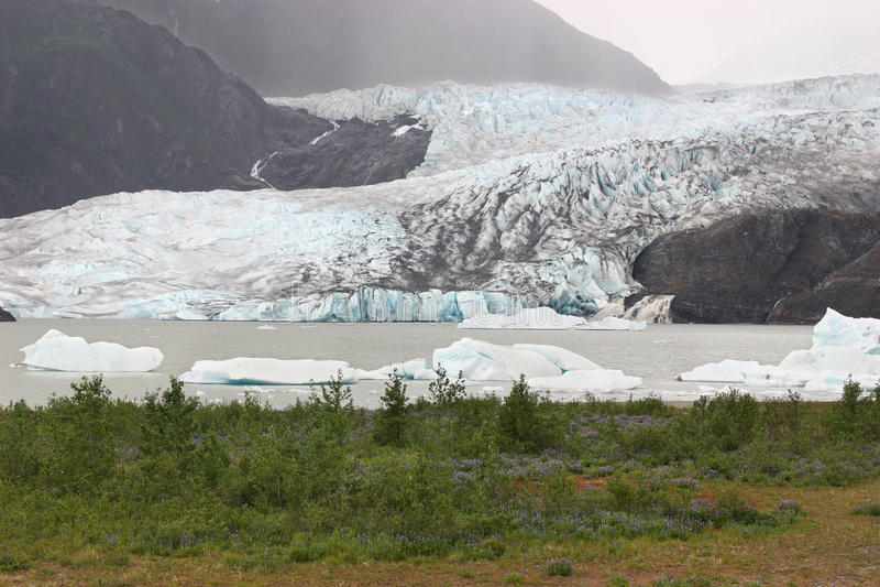 Glacier de Bautiful image libre de droits