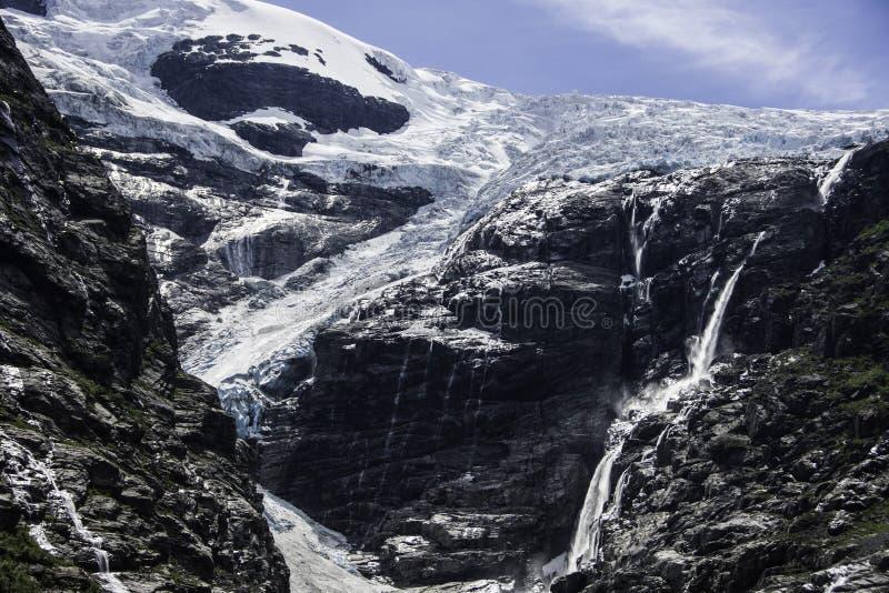 Glacier de Briksdal, Norvège image libre de droits
