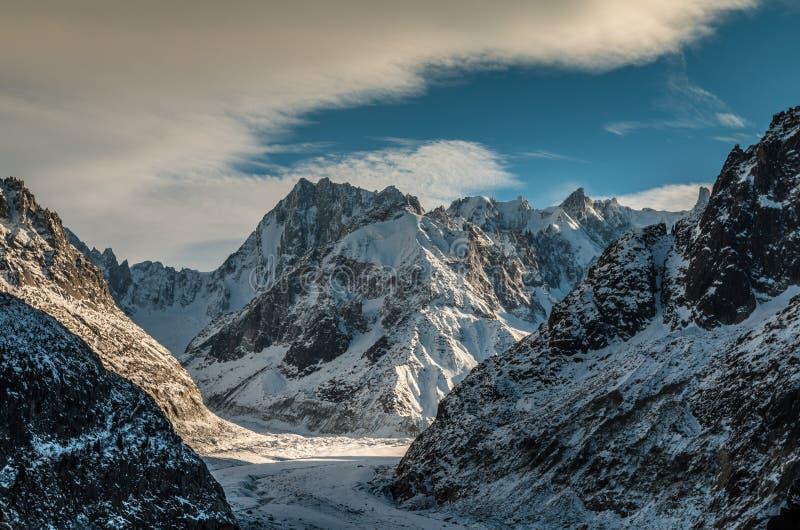 Glacier de Chamonix France images libres de droits
