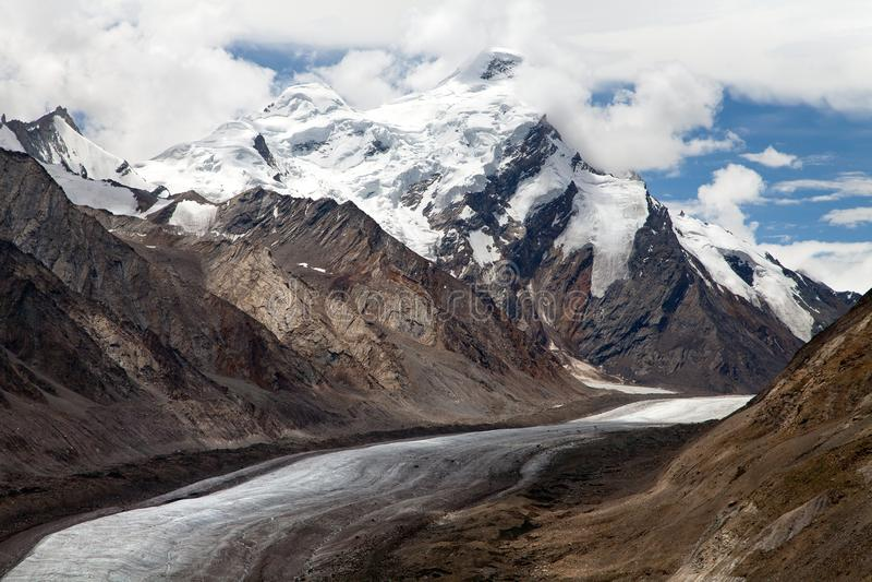 Glacier de Darang Durung, de Drang-Drung ou de Durung Drung photos libres de droits