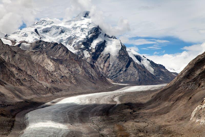 Glacier de Darang Durung, de Drang-Drung ou de Durung Drung photos stock