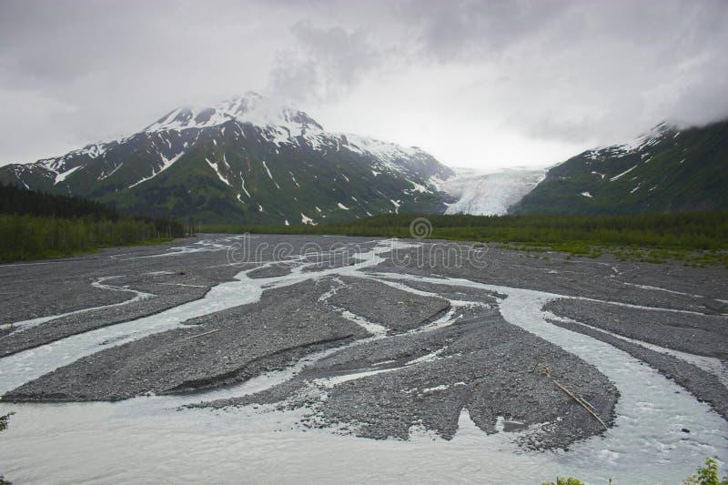 Glacier de fjord de Kenai photographie stock