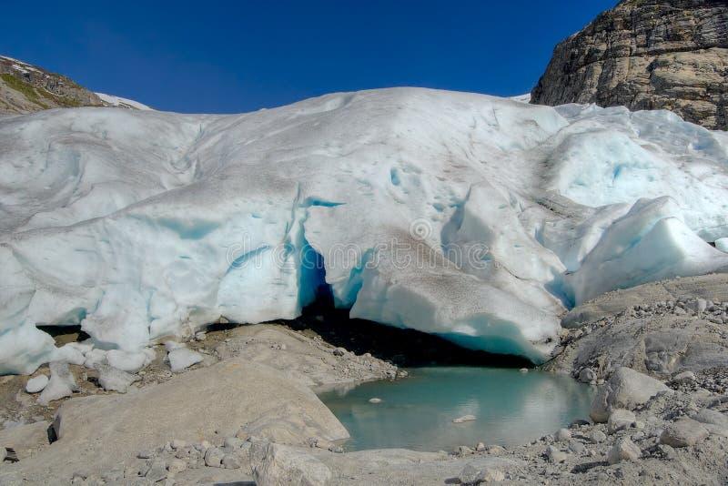 Glacier de fonte photographie stock