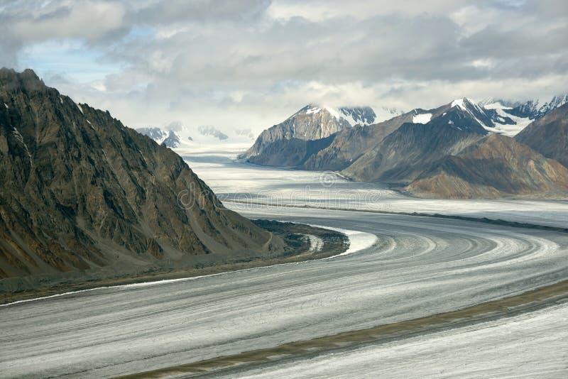 Glacier de Kaskawulsh et montagnes, parc national de Kluane, le Yukon 01 photo libre de droits