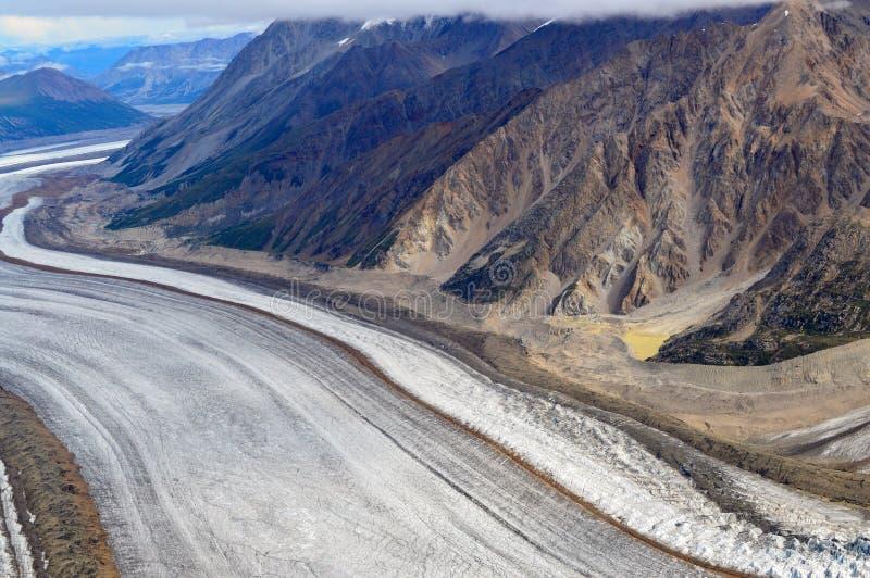 Glacier de Kaskawulsh et montagnes, parc national de Kluane, le Yukon 03 photos stock