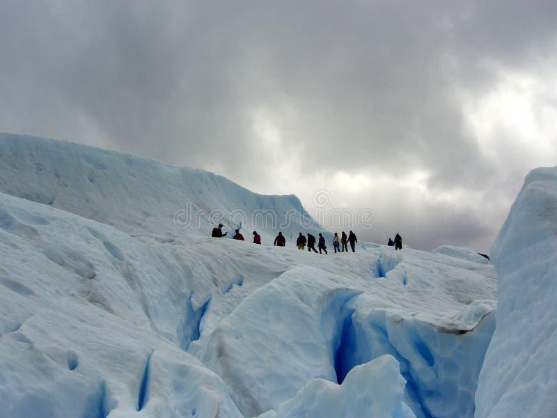 Glacier de marche de Merino de Perito photos stock