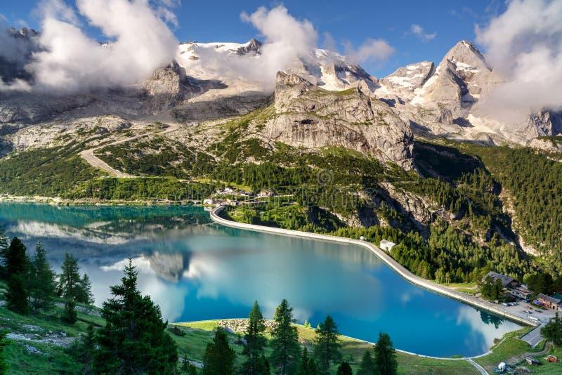 Glacier de Marmolada, dolomites, Italie images stock