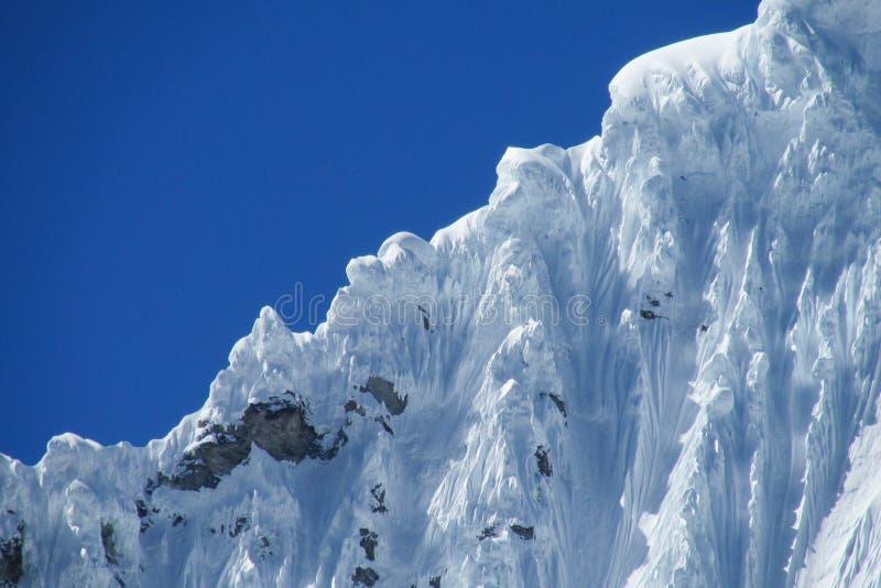 Glacier de montagne de Blanca de Cordillère photographie stock libre de droits