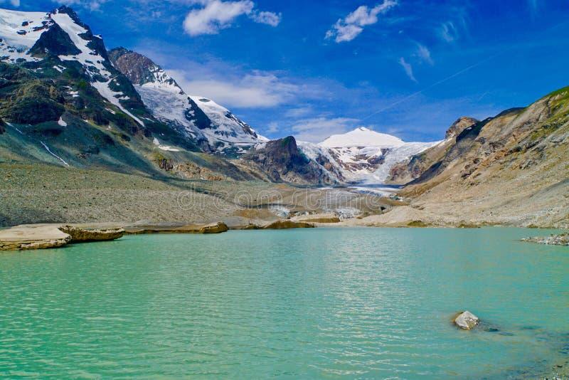 Glacier de Pasterze, haute route alpine de Grossglockner photos stock