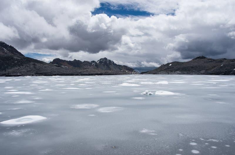 Glacier de Pastoruri dans Blanca de Cordillère, Pérou images libres de droits
