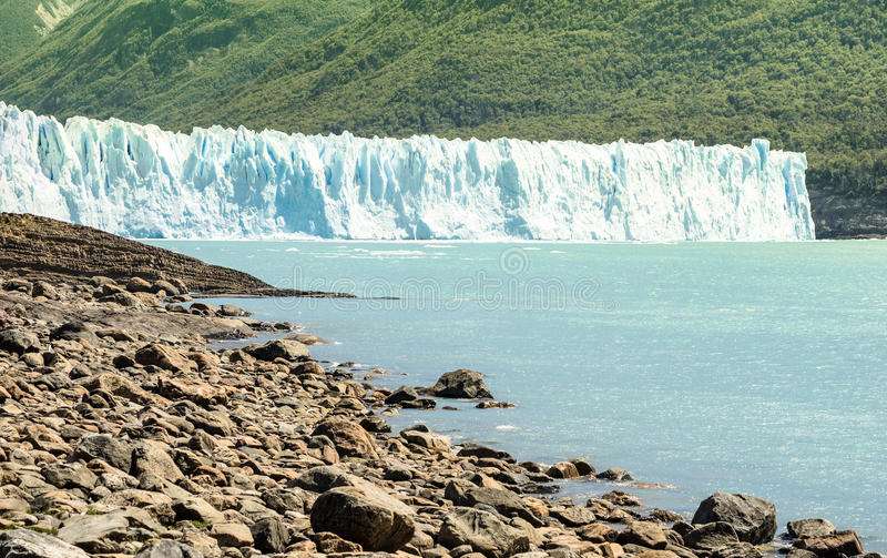 Glacier de Perito Moreno dans le Patagonia d'Argentinia image libre de droits