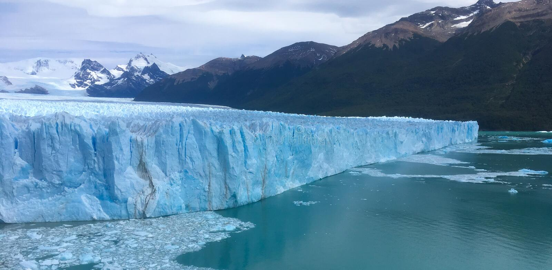 Glacier de Perito Moreno dans le Patagonia photographie stock