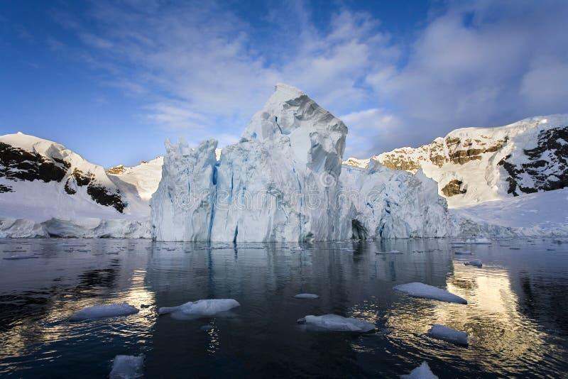 Glacier de Petzval - Antarctique images libres de droits