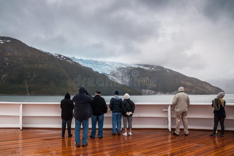 Glacier de Romanche, allée de glacier, la Manche de briquet, Chili photos libres de droits