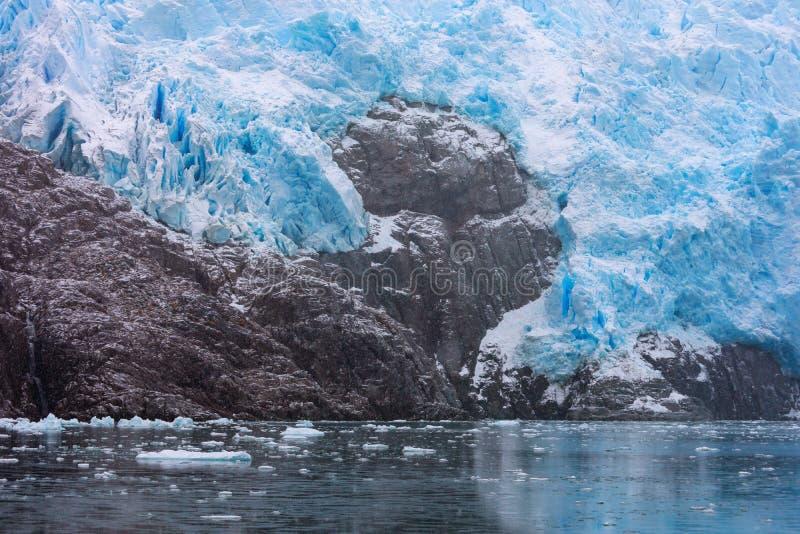 Glacier de Santa Ines dans le détroit de Magellan photo stock