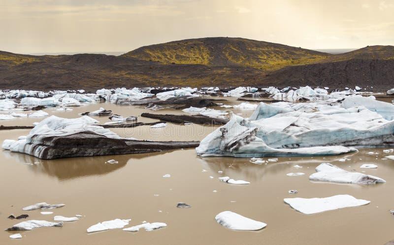 Glacier de Svinafellsjokull en Islande images libres de droits