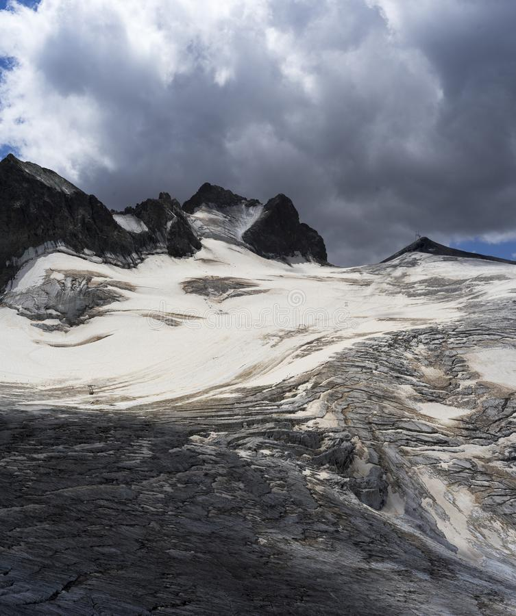 Glacier des Alpes françaises photographie stock