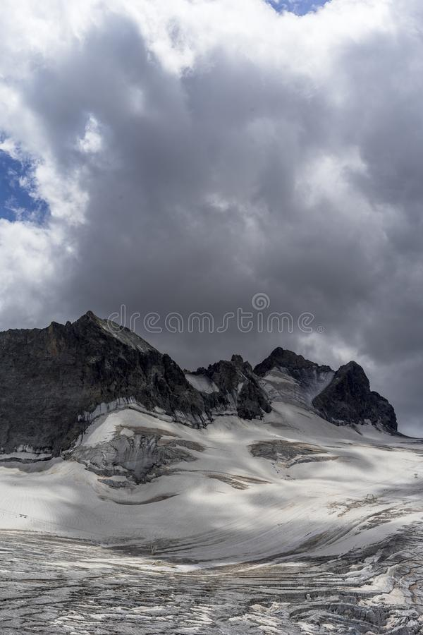 Glacier des Alpes françaises photographie stock libre de droits