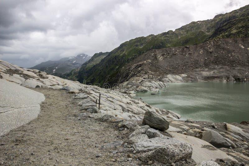 Glacier du Rhône en Suisse dans les Alpes images libres de droits