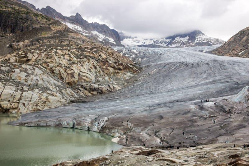Glacier du Rhône en Suisse dans les Alpes image libre de droits