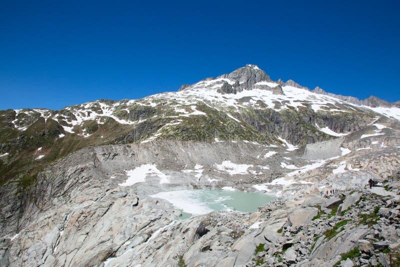 Glacier du Rhône photos libres de droits