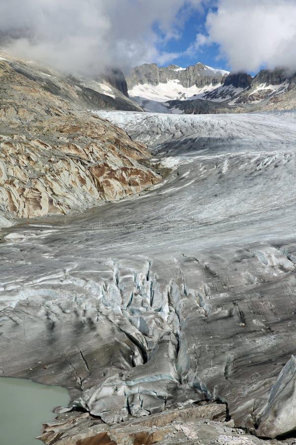 Glacier du Rhône image libre de droits