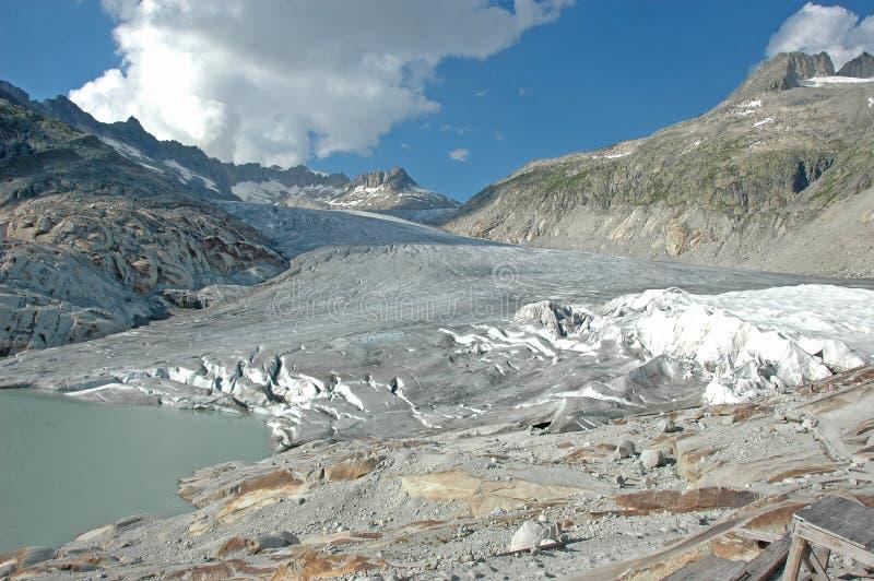 Glacier du Rhône images libres de droits
