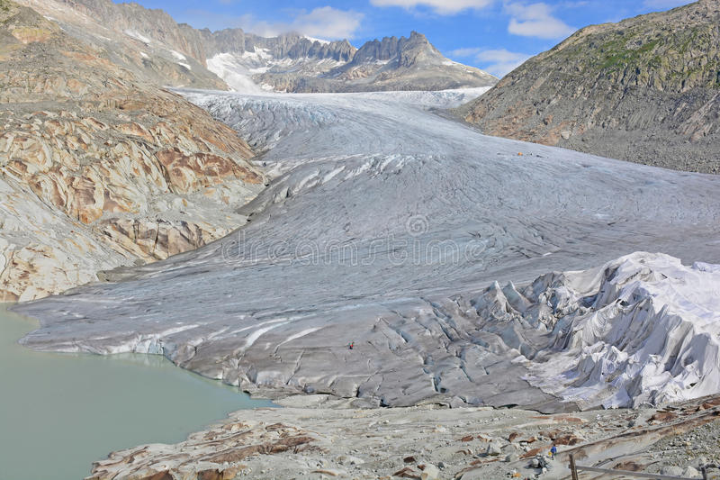 Glacier du Rhône photo libre de droits