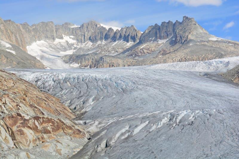 Glacier du Rhône photo stock